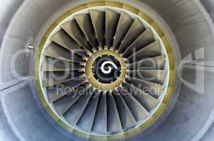 Jet engine detail.