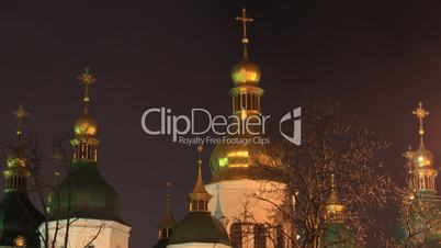 Saint Sophia Cathedral in Kiev timelapse