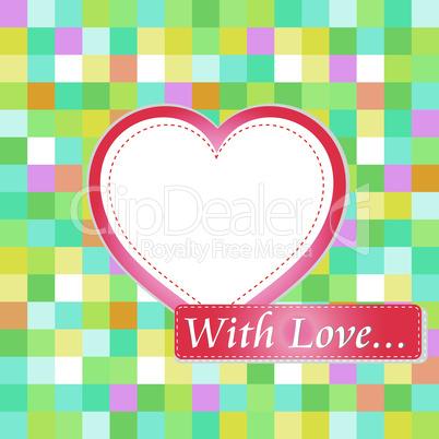 Love card with hearts. love wedding invitation