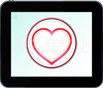 love heart icon for mobile devices tablet pc