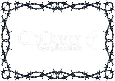 barbed wire frame vector