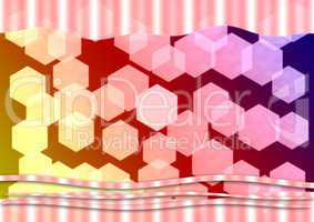 bokeh hexagonal background