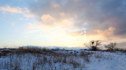 Sunrise in winter (Time Lapse)