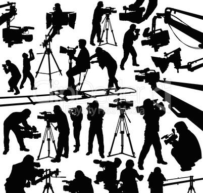 cameramen silhouettes