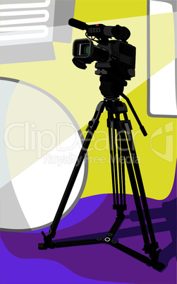 tv camera at studio