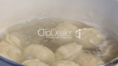 Meat dumplings.