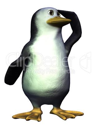 Toon Pinguin hält Ausschau