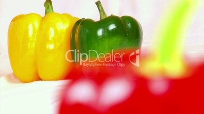 Vegetables, three-color peppers