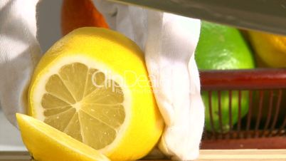 Fruits, lemon and orange, slice, 2 clips