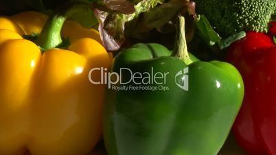 Vegetables, rotate, closeup