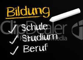Bildung: Schule Studium Beruf