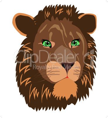 Vector illustration animal lion