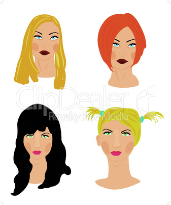 girls hairstyle.eps