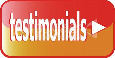 testimonial button - orange vector testimonial icon