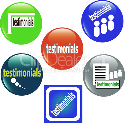 web testimonial icon design stickers element set