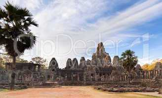 Ancient temple Prasat Bayon in Angkor complex