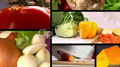 Food, fresh vegetables, composition