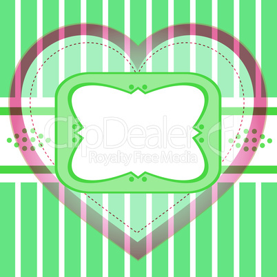 Seamless vector background greeting with love heart