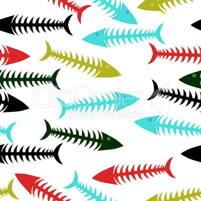 Fishbone background.