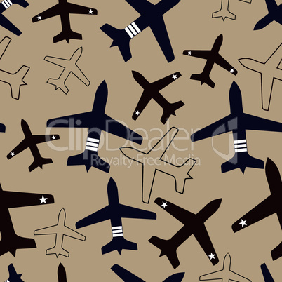 plane flying vector seamless travel transport background