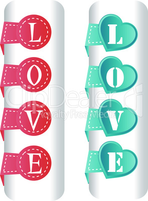 Vector heart decoration made from paper stripe
