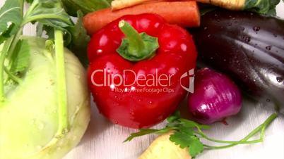 Vegetables, cam dolly, closeup
