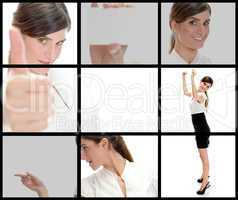 different poses of young businessman