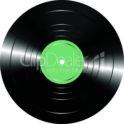Vintage vinyl record isolated on white vector background