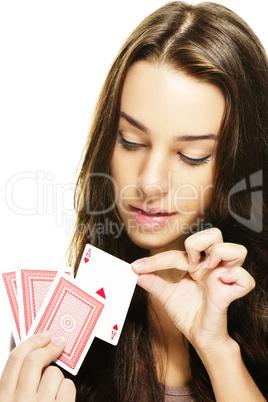 Poker Dealer Frau