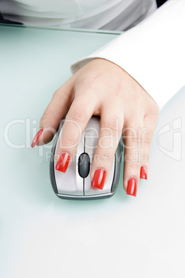 close up of finger on mouse