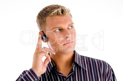 customer representative wearing headset