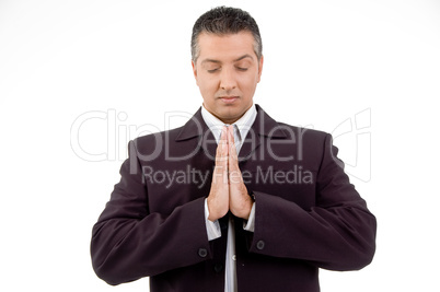 portrait of praying adult ceo