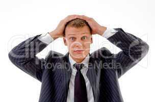 portrait of confused businessman