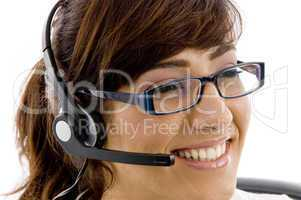 close up of smiling service provider