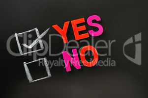 Yes or no check boxes