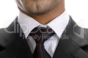close up pose of businessman tie