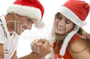 people doing arm wrestling