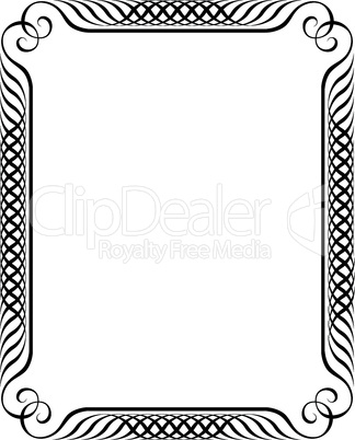 simple calligraph ornamental decorative frame pattern