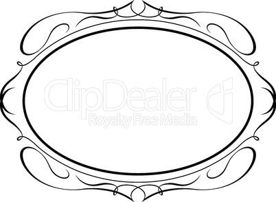 oval calligraphy ornamental penmanship decorative frame