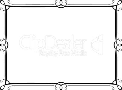 calligraphy penmanship ornamental deco frame pattern