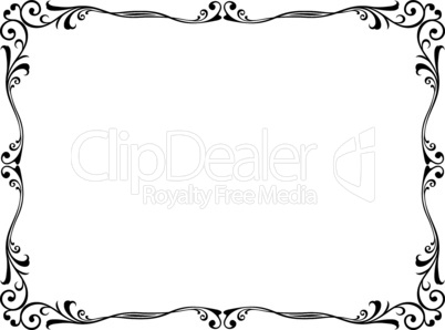 floral abstract ornamental decorative frame pattern