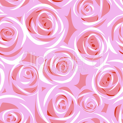 abstract rose group seamless background pattern