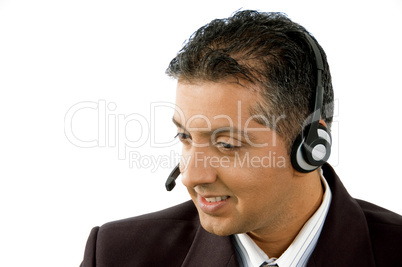portrait of smiling adult service provider