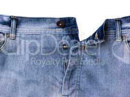 Unbuttoned jeans