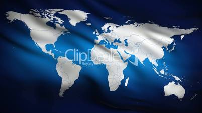 World on Flag HD. Looped.