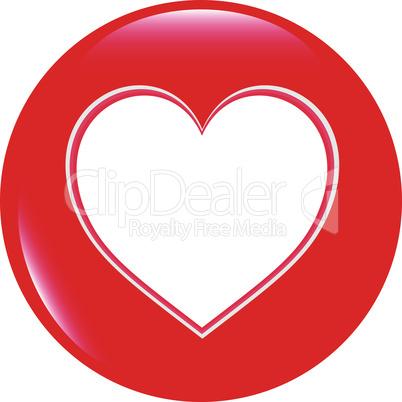 Vector Love Heart Glossy Icon