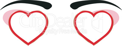 heart eye design with empty space. vector