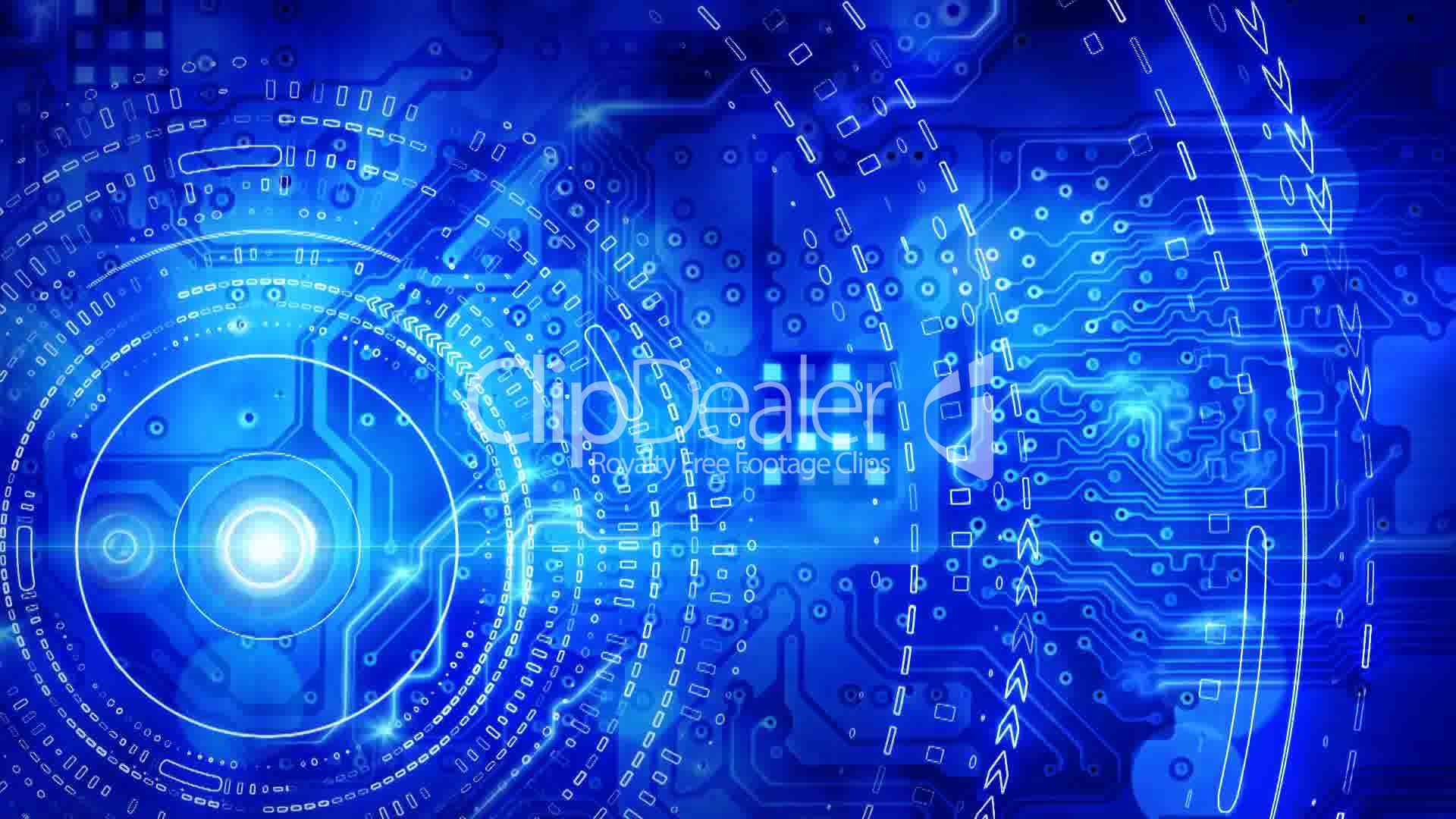 Blue Computer Circuit Board Background Loop Royalty Free Video And Graphic Of Technological Theme Tech