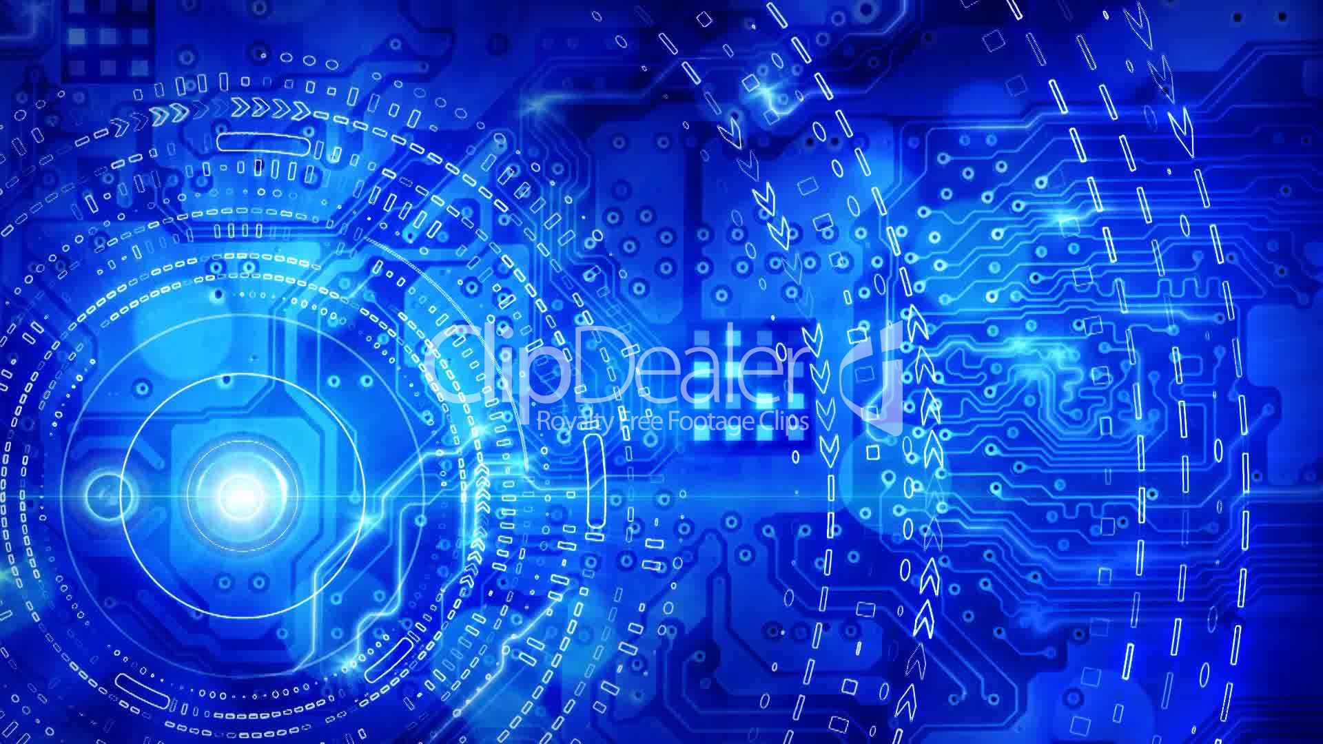 Blue Computer Circuit Board Background Loop Royalty Free Video And Stock Footage