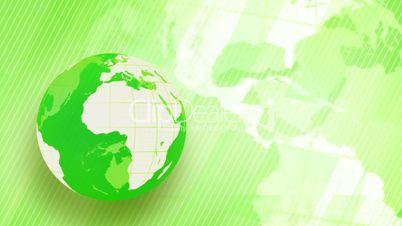 green background globe spinning loop